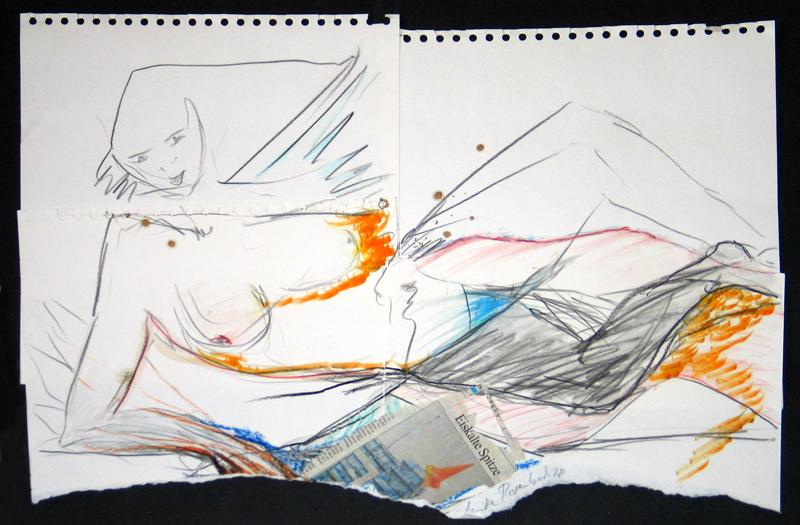 Ulrike Rosenbach, Eiskalte Spitze, 1998 (42x59)